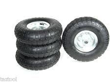 4 Tire Set 10 Steel Air Pneumatic Hand Truck Dolly Wagon Industrial Wheels