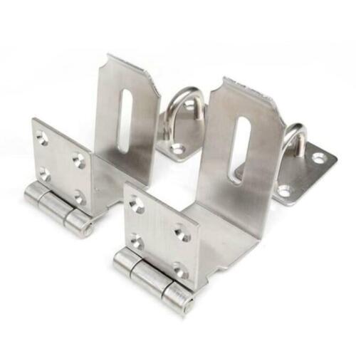 Lock Door Padlock Plate Buckle Stainless Steel Hasp Security Hardware 4-holes