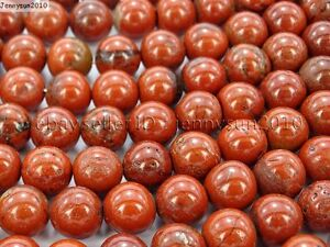 Natural-Red-Jasper-Gemstone-Round-Loose-Beads-16-039-039-4mm-6mm-8mm-10mm-12mm-16mm