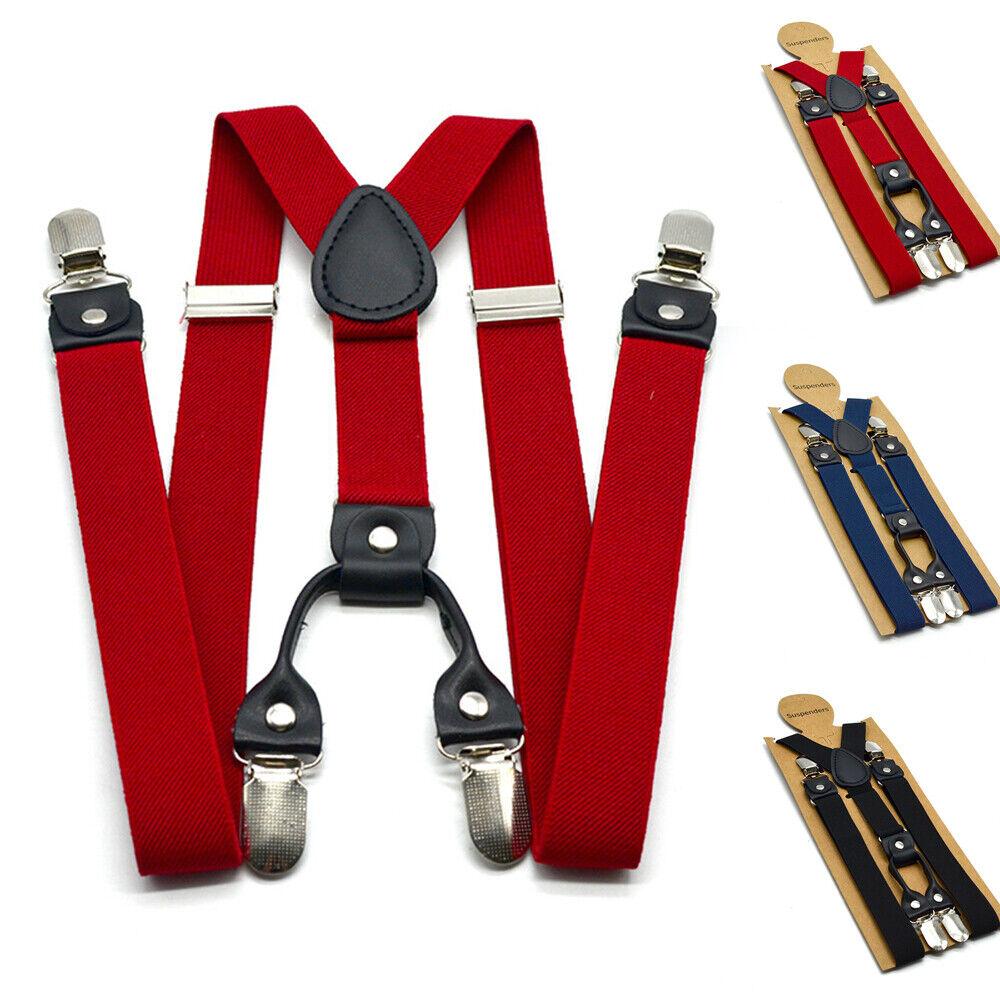 Trouser Suspenders Straps Braces Y-Back Adjustable 120cm length Stylish
