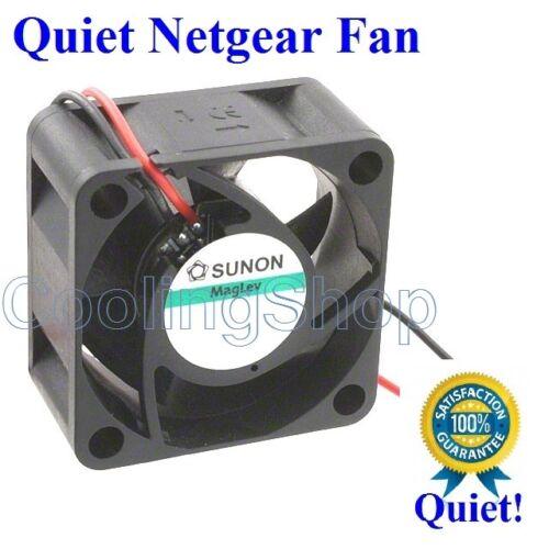 Netgear JGS516 FAN Quiet New Sunon Fan, 9dBA Noise Level vs 29dBA stock fan