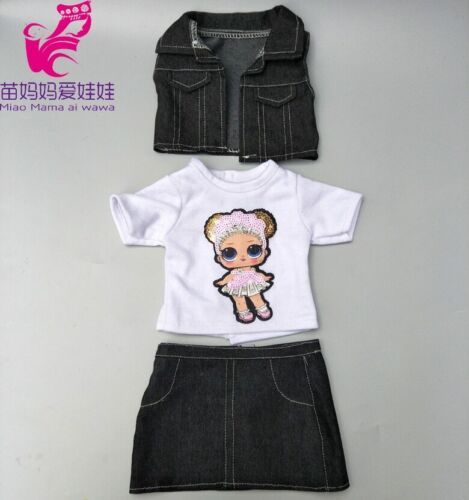 18 inch american doll jacket vest shirt skirt baby dolls clothes summer jeans