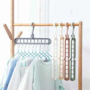 Foldable No Trace Non-Slip Space Saving Hang Hooks Durable Travel Plastic for Clothes Pants-5 Pack-A Hangers Portable