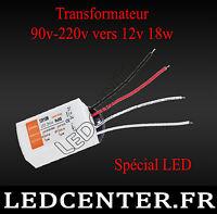 12v 18w Led Driver Power Supply Transformateur Ac 90-220v Vers Dc 12 Volts