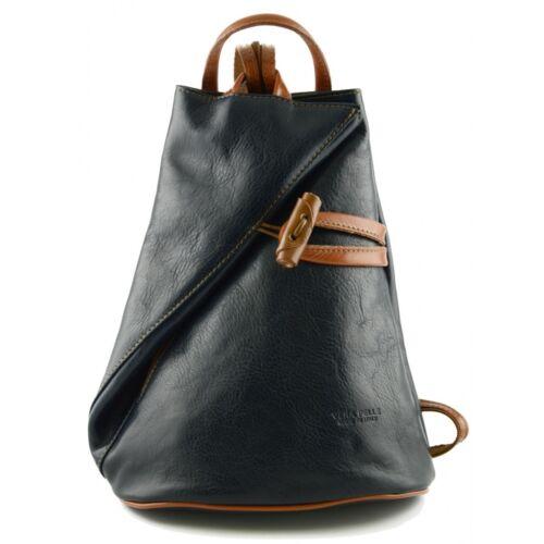 Damen Echtes Leder Rucksack mit Träger und Reißverschluss Aniuk