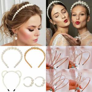 Fashion-Womens-Big-Pearl-Headband-Hairband-Hair-Band-Hoop-Hair-Accessories-Gift