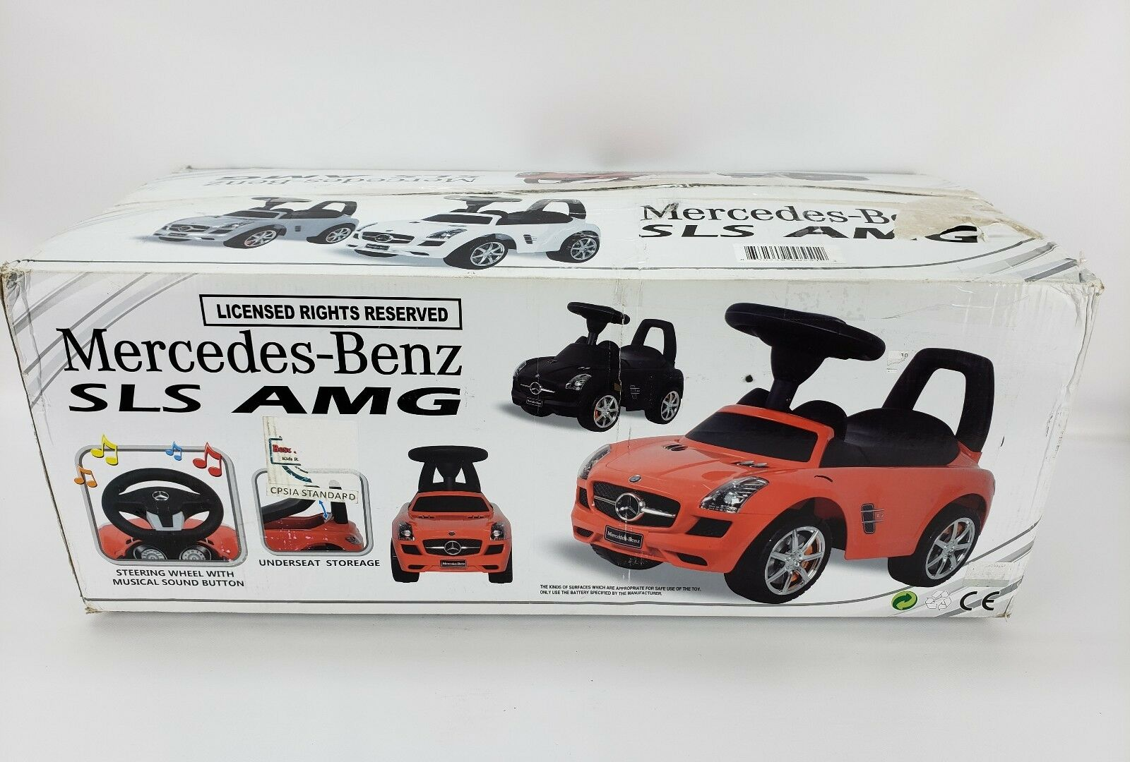 Mercedes Benz SLS AMG AMG AMG RED Push Car For Toddlers Ages 1-3 Best Ride On Cars 276c8e