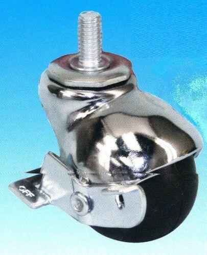 """One Shepherd Baron Swivel Stem Caster Ball Wheel 3//8/"""" Threaded Chrome"""