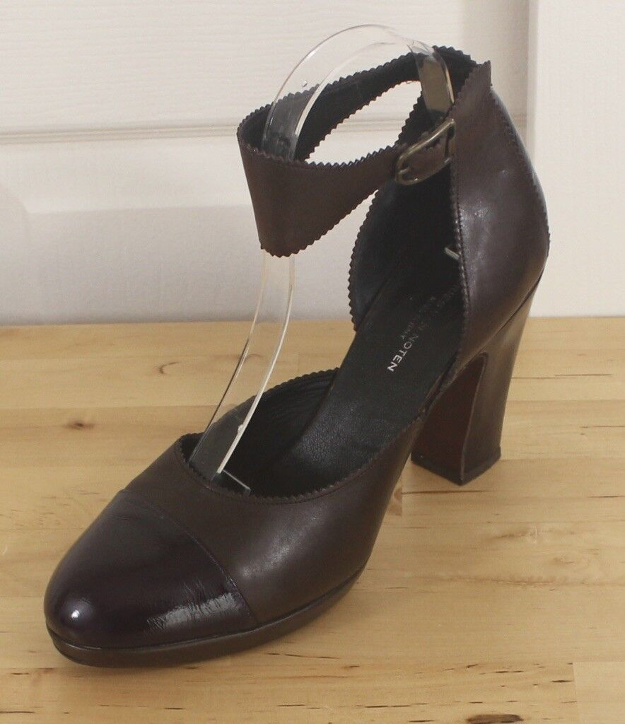 Dries Van Noten braun & lila Cap Toe Heel Amputee Single Left schuhe Only Sz 39