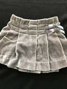Clothing, Shoes & Accessories Skirts Obedient Janie And Jack Nwot Grey Velvet Pleated Skirt 3-6months Sophisticated Technologies
