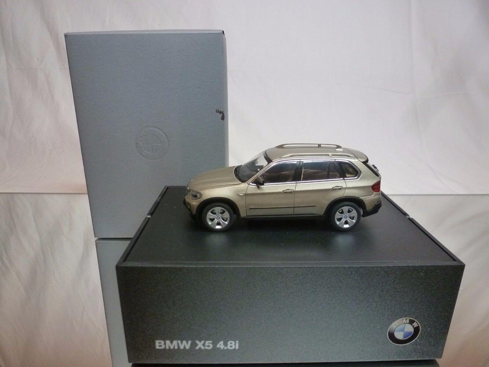 AUTOART BMW X5 4.8i - BEIGE METALLIC 1 43 - EXCELLENT IN DEALER BOX