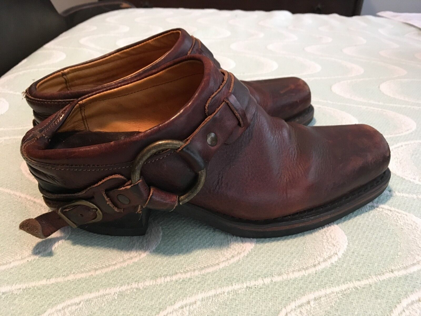 Frye 70760 Dark Brown Leather 7 Mules SIze 7 Leather 3b4748