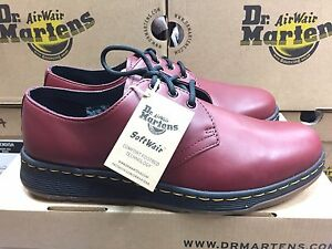 Image is loading Unisex-Dr-Martens-Cavendish-Cherry-Red-Temperley-Shoes-