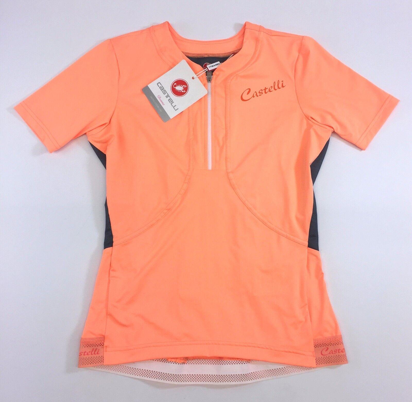 Castelli women Bellissima orange Women's Size Small Jersey NEW