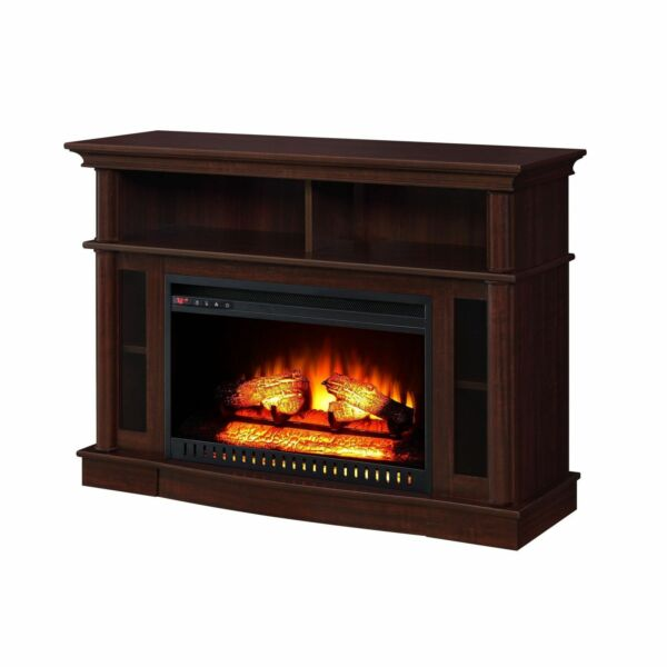 Electric fireplaces media center console tv stand with fireplace heater 45 inch ebay for Better homes and gardens fireplace tv stand