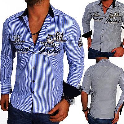 ZAHIDA Herren Hemd Herrenhemd Langarm Hemd Polo Club Shirt WOW S M L XL XXL NEU