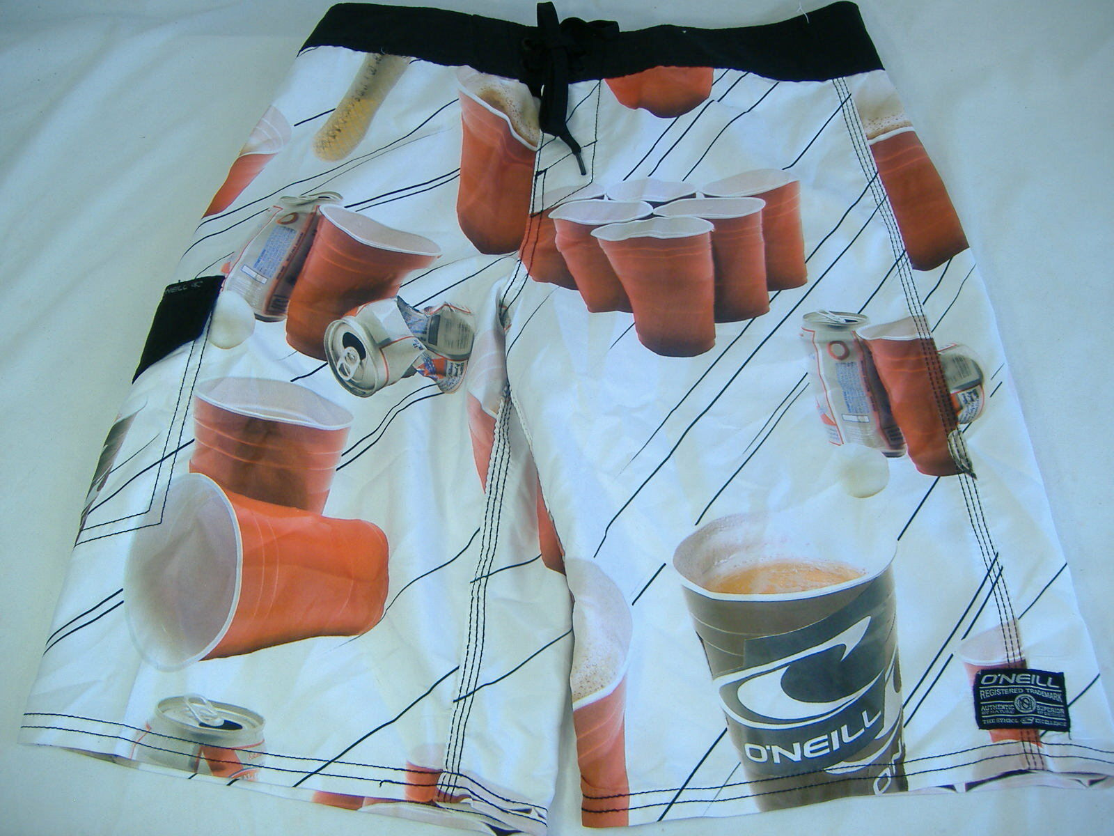 New Mens 30 O'Neill Oneill Beer Party Surf Swim Board Shorts