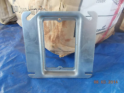 "Cooper Crouse-Hinds TP484 Outlet Box Cover 4/""Square Raised 1//2/"" lot of 10"