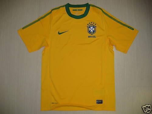 0954 NIKE TG L BRASILE BRASIL BRAZIL MAGLIA MAGLIETTA HOME 2010 SHIRT JERSEY