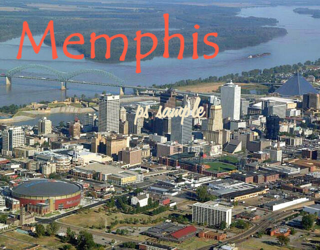 Tennessee - MEMPHIS skyline - Travel Souvenir Flexible Fridge Magnet