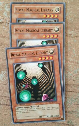 1st Common X3! Yu-Gi-Oh Royal Magical Library SDSC-EN013!