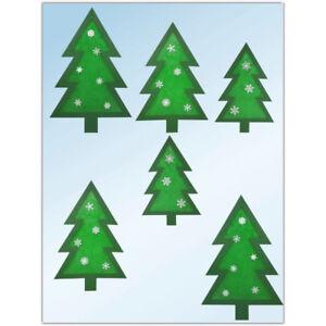 Bastelset fensterbild b ume 6teilig tannenbaum weihnachten weihnachtsbaum winter ebay - Bastelset weihnachten ...