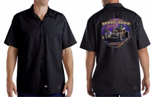 FAST FRANKIE/'S Speed Shop Mechanics Work Shirt ~ Dickies ~ Frankenstein Rat Rod