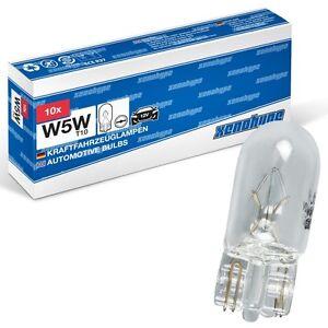 10x-w5w-xenohype-Classic-t10-12-V-5-vatios-de-vidrio-zocalo-lampara