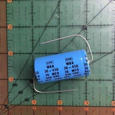 1x 30uF 450V Axial Electrolytic Aluminum Capacitor Volts DC 30mfd 450VDC 53D
