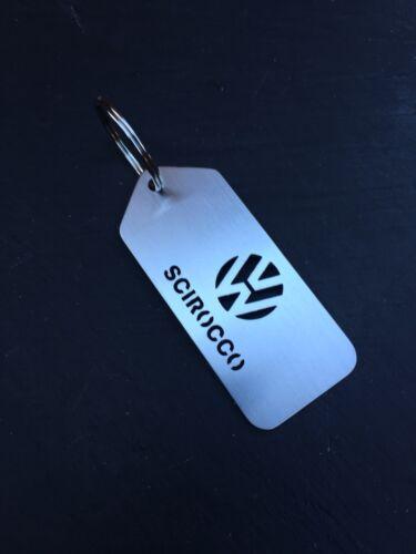Volkswagen Scirocco Stainless Steel Laser Cut Keyrings