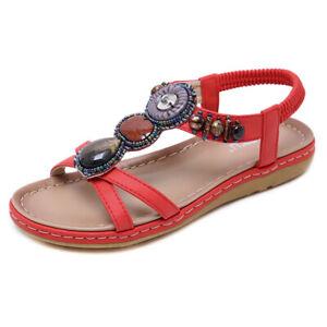 Sandalen-Absatz-Niedrig-Elegant-Komfortabel-Hausschuhe-Leder-Synthetik-Rot-Bohoo