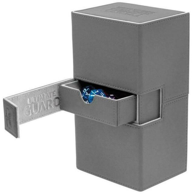 Deck Box Ultimate Guard Twin Flip n Tray Deck Case 160+ XENOSKIN Grey