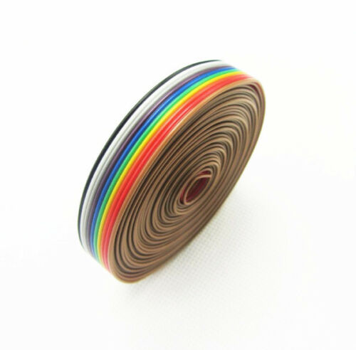 1.27mm Spacing Pitch10 WAY 10P Flat Color Rainbow Ribbon Cable Wiring Wire  UK