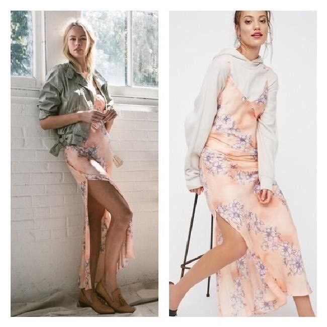 NwoT Free People Intimately Cassie Girl Maxi Slip Dress Dress Dress Sz M e8f5e0
