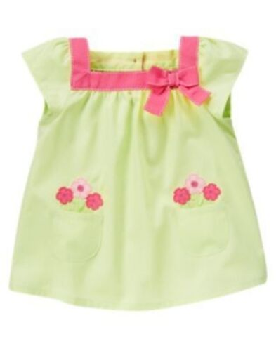 GYMBOREE FAIRY GARDEN GREEN RIBBON FLOWER POCKET S//S TOP 12 18 24 2T 3T 4T NWT