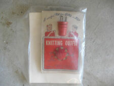 Vintage 1940s Knitting Outfit Playset for Children Silverleaf Co on Card
