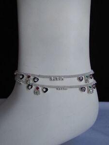 Fashion Jewelry Anklets Nice Da Polso Cavigliera Argentata Lega Vintage 30 Cm Alloy Silver Rhinestone Anklet
