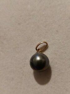 Pendentif  perle 9 mm Or 18 Carats or jaune
