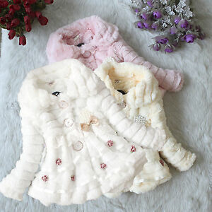 Toddler-Kids-Girls-Faux-Fur-Fleece-Jacket-Coat-Baby-Winter-Warm-Outwear-Snowsuit