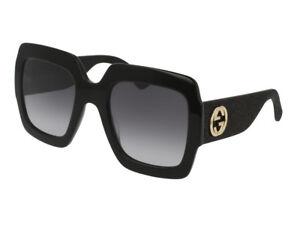 7a4908dec8d71c Gucci lunettes de soleil GG0102S gris noir Nuancé femme réglable 001 ...