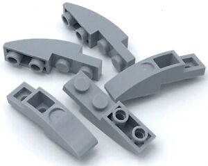 Lego-5-New-Light-Bluish-Gray-Slopes-Curved-4-x-1-Inverted-Pieces