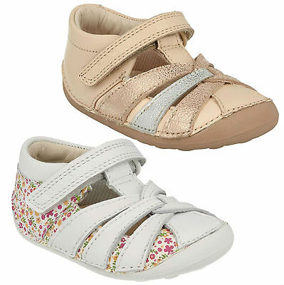 CLARKS LITTLE MAE INFANT BABY GIRLS RIPTAPE FASTENING EVERYDAY CRUISERS SHOES