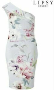 LIPSY-ORIENTAL-FLORAL-PRINT-ONE-SHOULDER-WIGGLE-PENCIL-EVENING-OCCASION-DRESS