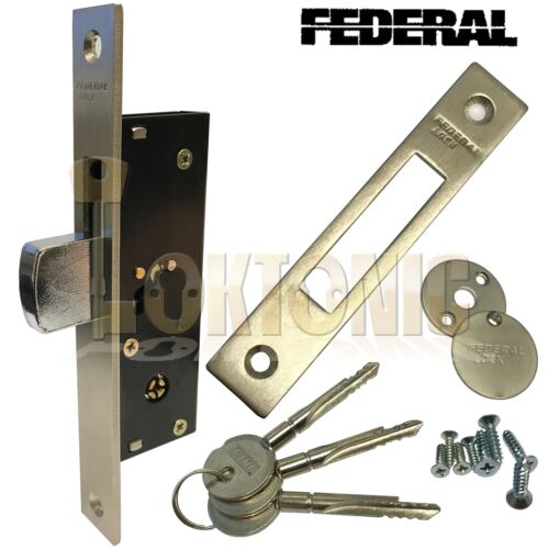 Federal Narrow Stile Sliding Door Van Gate Shed Hook Dead Bolt Lock FD-TX190H