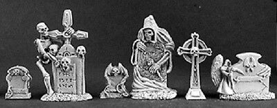 Tombstones Reaper Miniature Dark Heaven Legends D&D RPG Dungeon Grave Stone