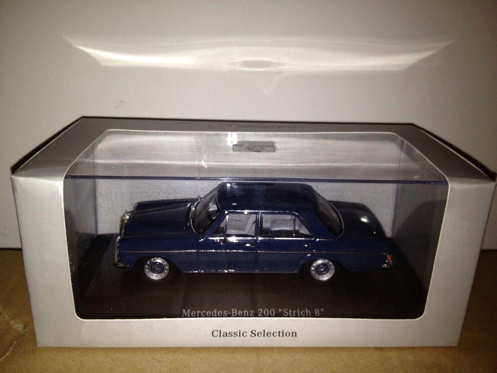 Mercedes strich 8 200 minichamps blau 1 43 dealer edition  super selten