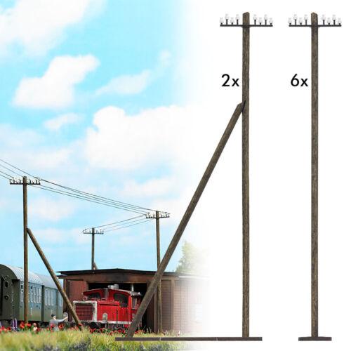 Busch 1499 traccia h0 pali telegrafici #neu in OVP #