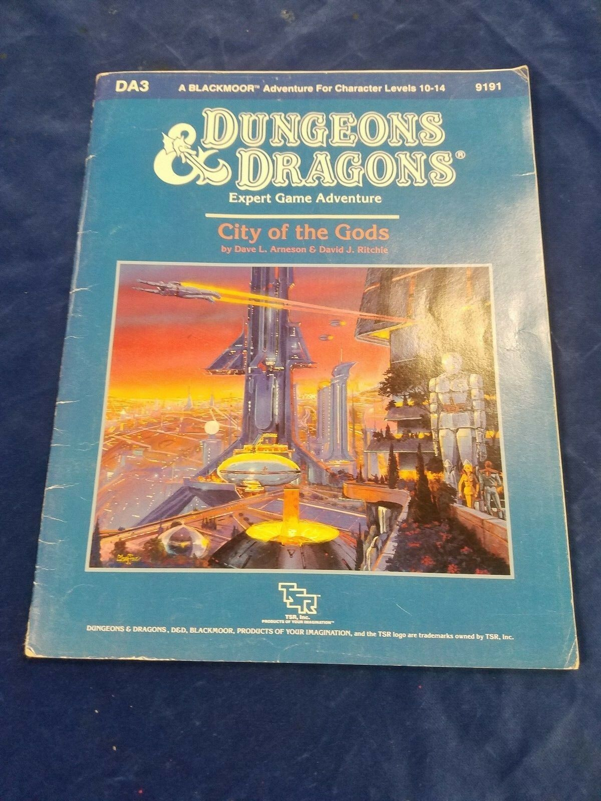 1987 Dungeons & Dragons  City of the Gods  (C5-1-A)