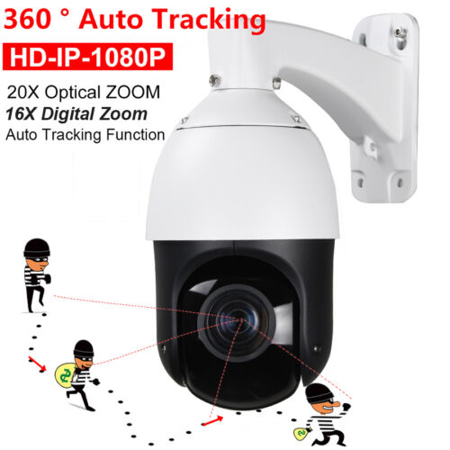 Security H.265 Auto Tracking 2MP POE IP PTZ Camera HD 1080P 20X 16X Digital ZOOM