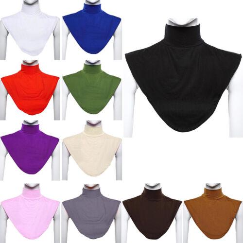 Islamisches Moslem Damen Falscher Stehkragen Rollkragen Hijab Schals Oberteile